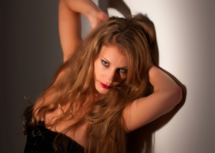 Frau Blonde Haare Portraitfotos neunzehn