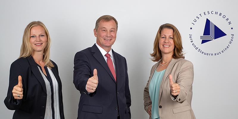 3 Anwälte*innen fotografiert vom Fotostudio Das Portrait