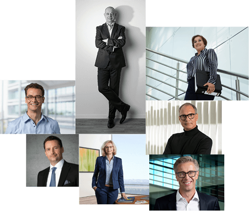 Das Portrait Businessfotos - Collage